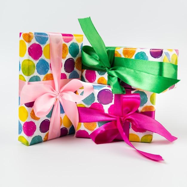 Black friday gifts on plain background Free Photo