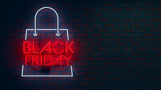 Black friday neon lights Premium Photo