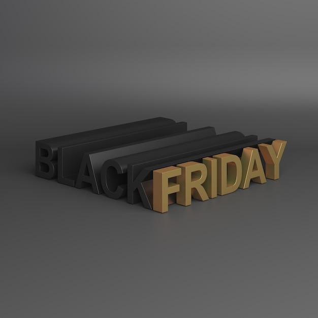 Черная пятница продажа украшения 3d рендеринга Premium Фотографии