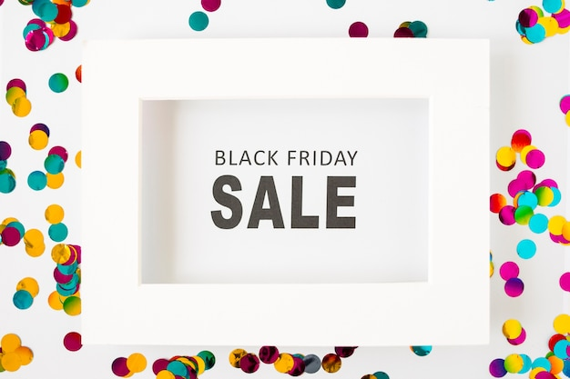 Black friday sale inscription in white frame Free Photo