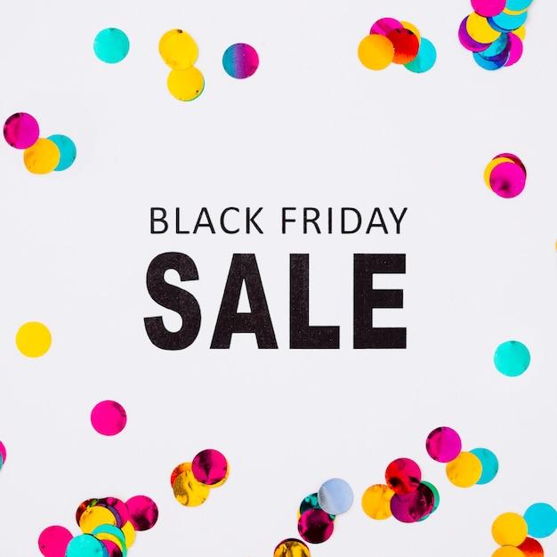 Black friday sale inscription on white table Free Photo