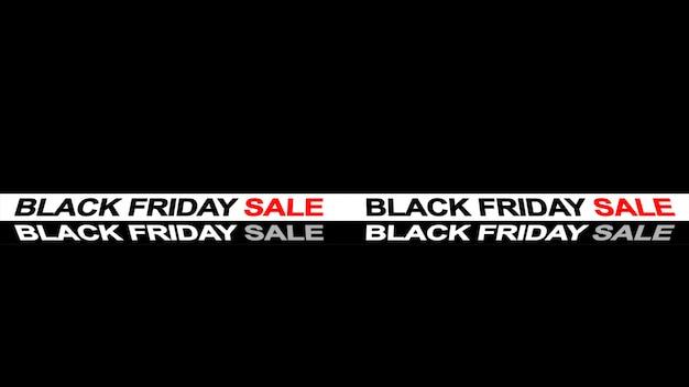 Black friday sale sign banner background Premium Photo