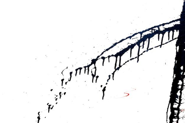 Элемент черного граффити. абстрактные брызги черной краской. Premium Фотографии