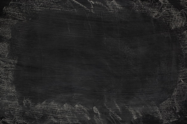 Black grunge dirty texture abstract chalk rubbed out on blackboard or chalkboard background. Premium Photo