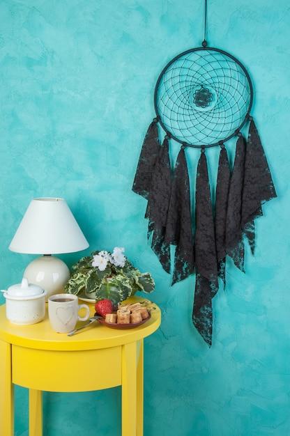 Black  lace dream catcher Premium Photo