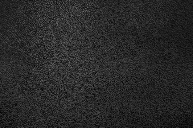 Black leather texture background Premium Photo