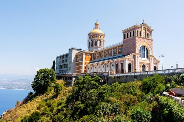 Black madonna church in tindari, sicily Premium Photo