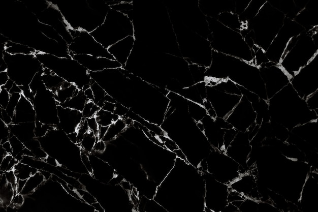 Black marble texture with natural pattern Premium Photo