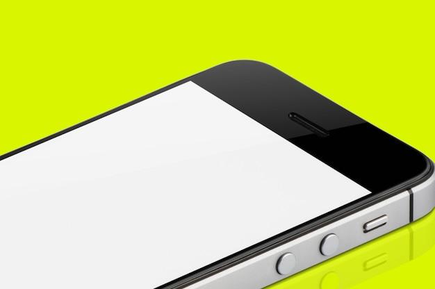 Black mobile phone isolated. Premium Photo