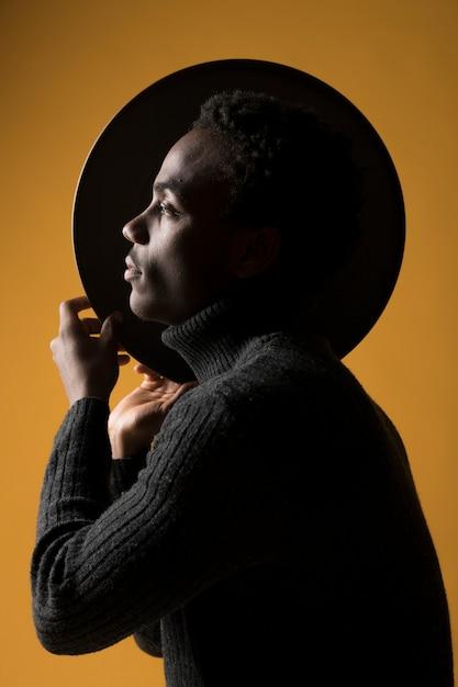 Black model posing Free Photo