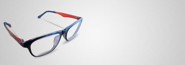Black Orange Eye Glasses Isolated On White Background Photo