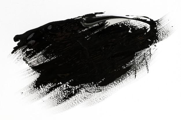 Black paint brush stroke effect Premium Photo