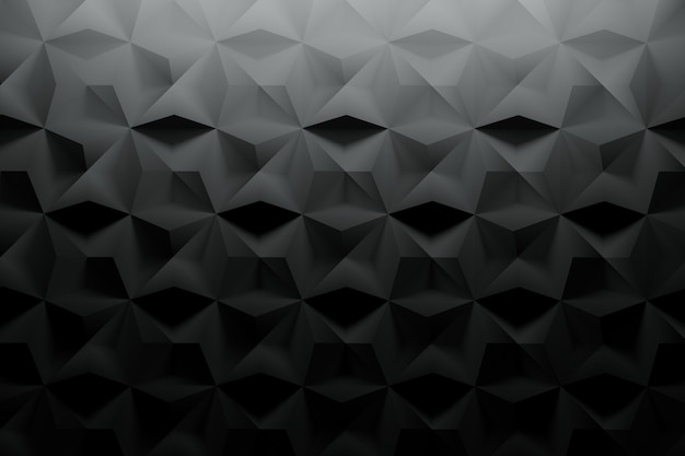 Black pattern with textured surface and random tiles Premium Photo