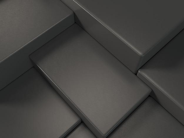 Black product display podium, abstract  background Premium Photo