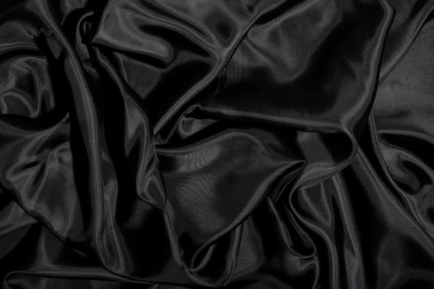 黒のシルク生地のテクスチャ背景 無料写真