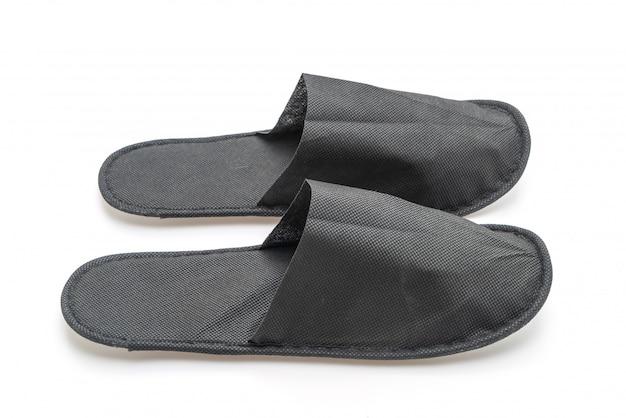 Black slipper shoes Premium Photo