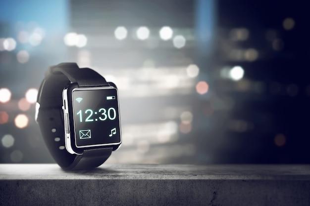 Black smart watch Premium Photo