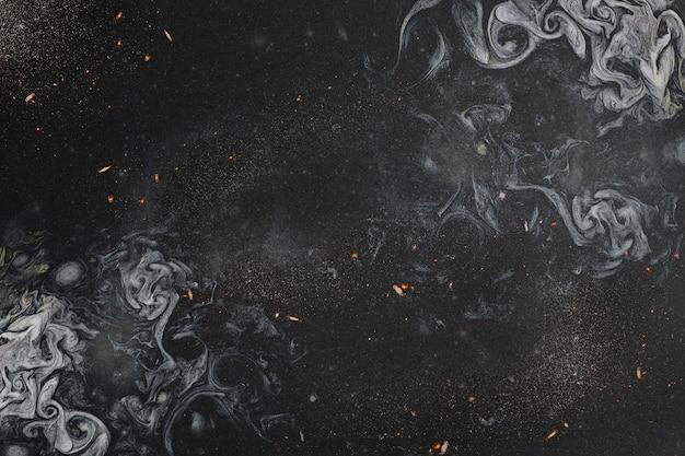 黒のスモーキーアートの抽象 無料写真