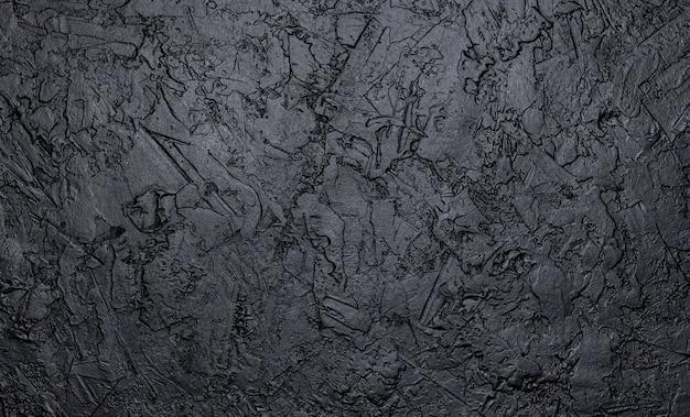 Black stone texture, dark slate background Free Photo