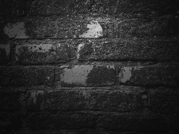 Black texture background, dark and gray brick wall surface Premium Photo