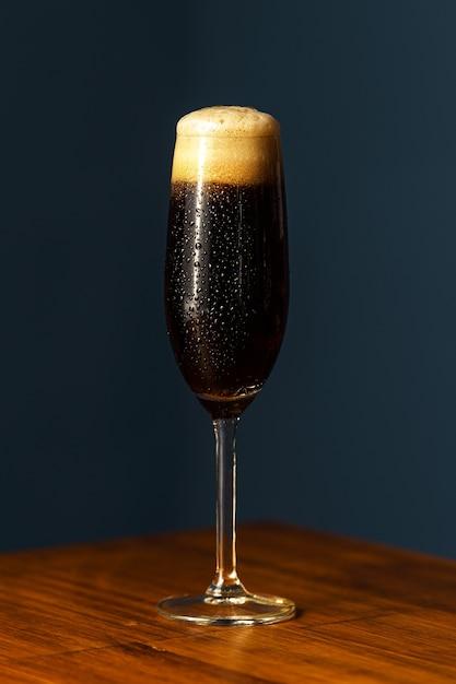 Black velvet cocktail.