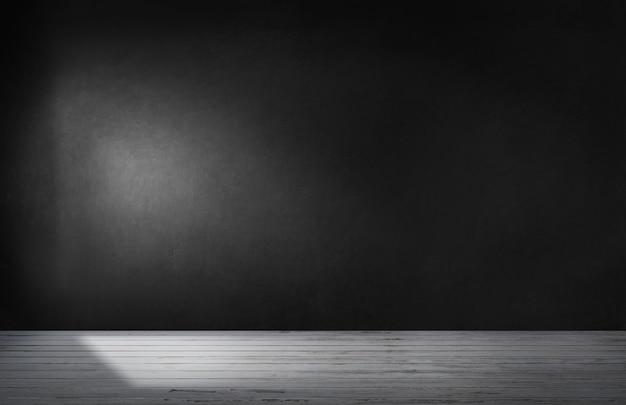 Черная стена в пустой комнате с бетонным полом Бесплатные Фотографии