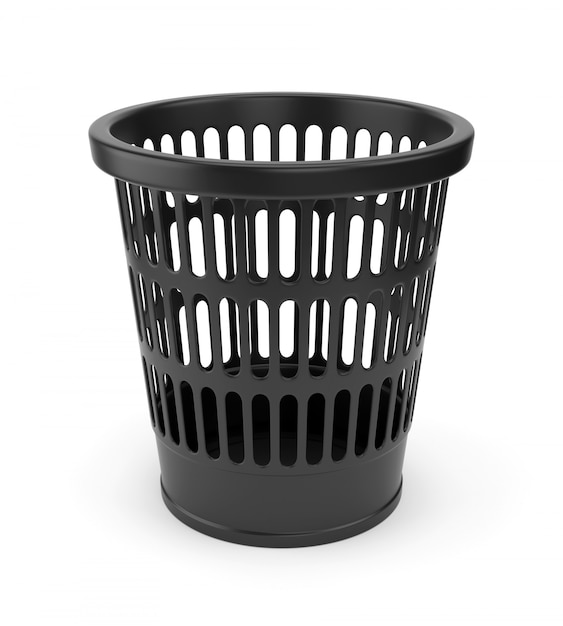 Black wastebasket Premium Photo