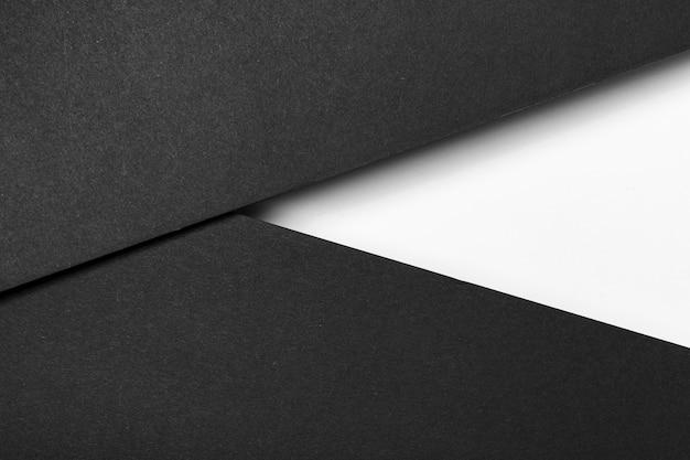 Black and white layers of paper Premium Photo