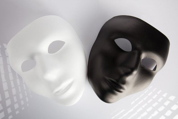 Black and white masks Premium Photo