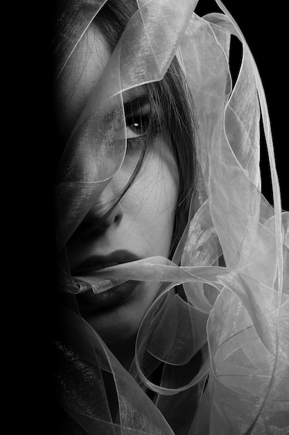 Foto in bianco e nero donna | Foto Gratis
