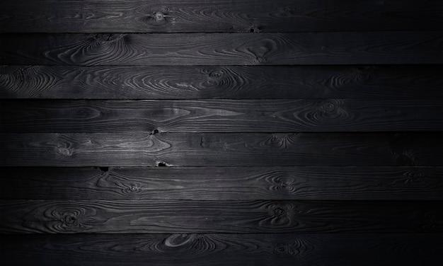 Black wooden background Premium Photo