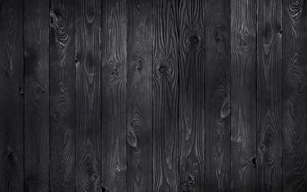 Черный деревянный фон Premium Фотографии