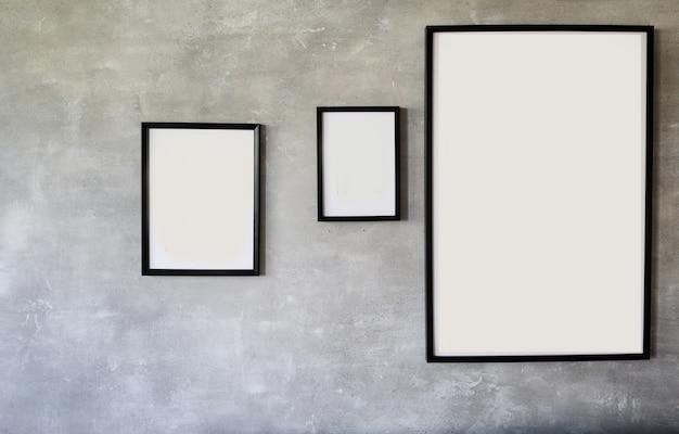 Black wooden photo frames Premium Photo