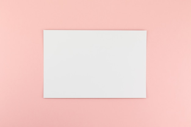 Blank a4 paper sheet  on pink background Premium Photo