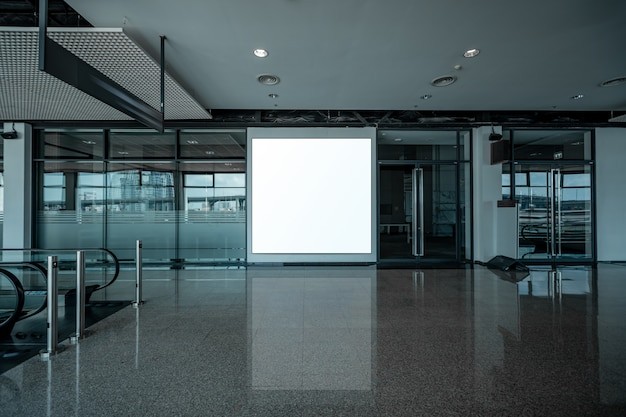 Blank advertising display Premium Photo