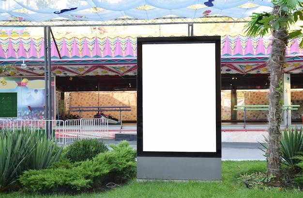 Blank advertising panel on a street Premium Photo