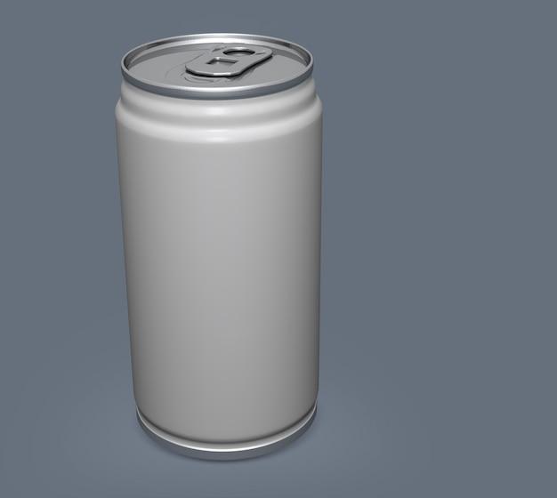 Blank aluminium can mockup on clear background. Premium Photo