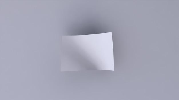 白地に白の空白のバナー Premium写真