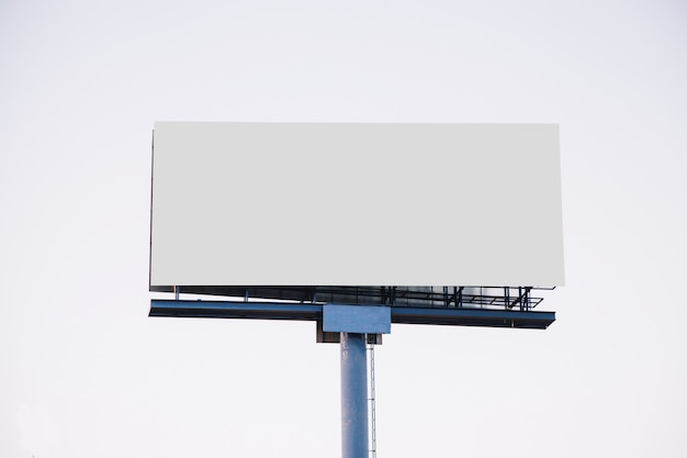 Blank billboard for new advertisement isolated on white background Free Photo