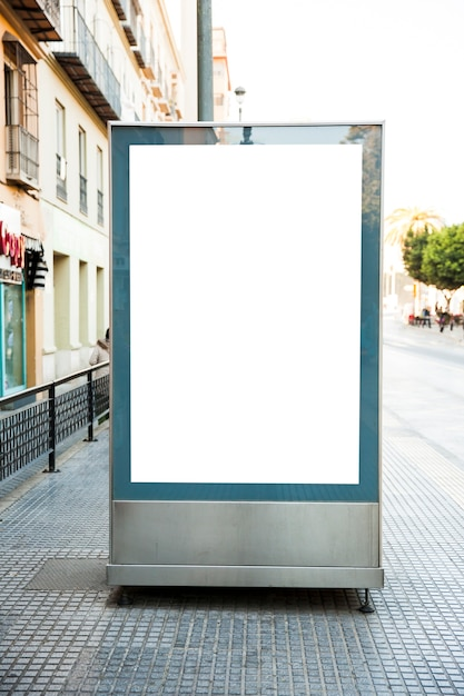Blank billboard in street Free Photo