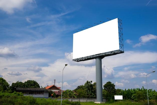 Blank billboard for new advertisement Premium Photo