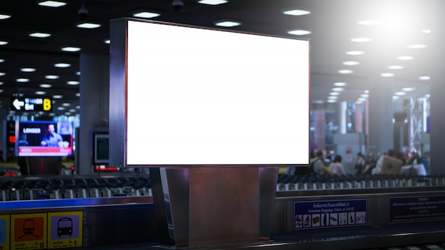 Blank billboard posters in the airport Premium Photo