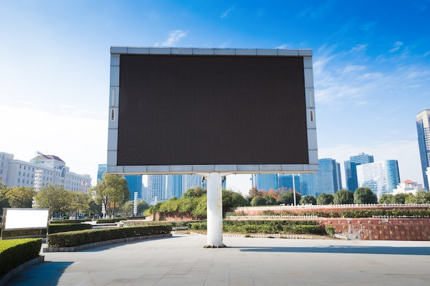 Blank billboard or road sign on the highway Premium Photo