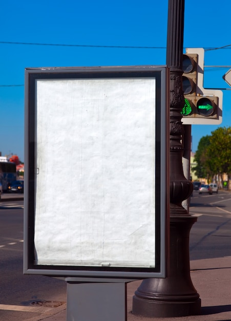 Blank billboard Free Photo