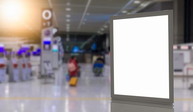 Blank billboards in the airport Premium Photo