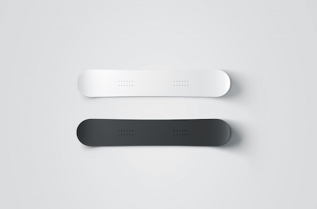 Blank black and white snowboards Premium Photo
