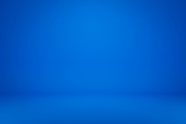 最小限のスタイルで鮮やかな夏の背景に空白の青いディスプレイ。製品を表示するための空白のスタンド。 3dレンダリング。 Premium写真