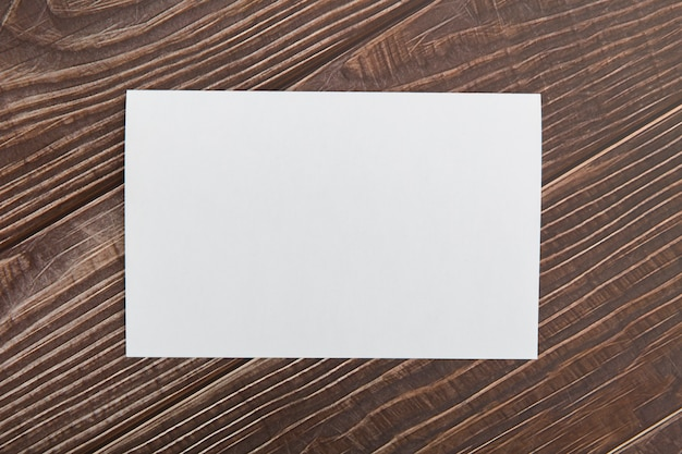 Blank brochure on table Free Photo