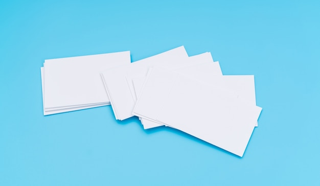 Blank business card on blue background photo free download blank business card on blue background free photo colourmoves