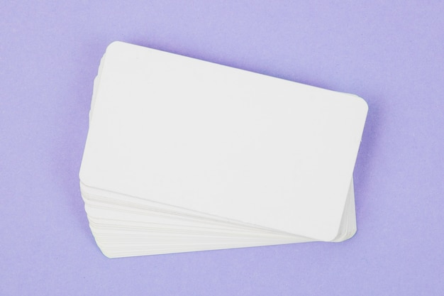 Blank business card template Free Photo